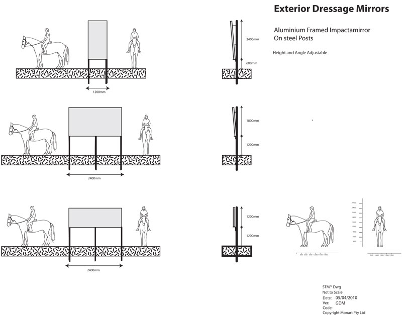 Dressage Mirrors Diagram
